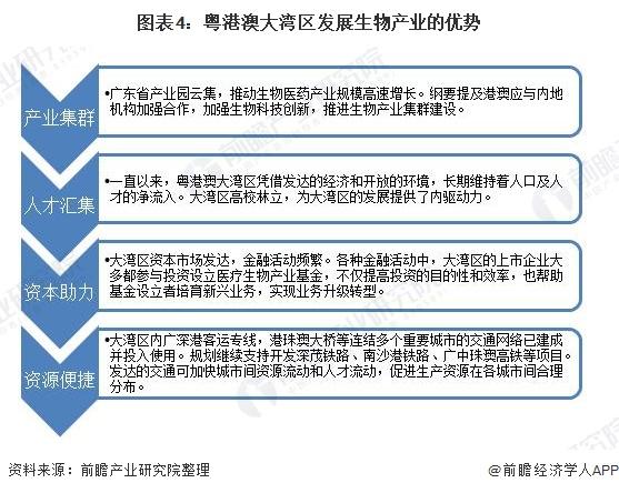 图表4:粤港澳大湾区发展生物产业的优势
