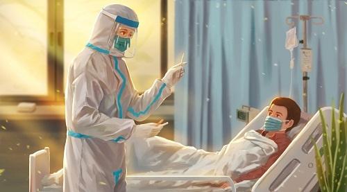 """与""""全副武装""""的中国医生相比英国的医护们正陷入物资短缺的窘境"""