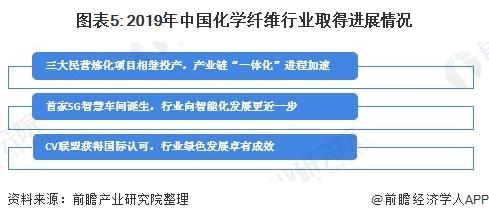 图表5: 2019年中国化学纤维行业取得进展情况