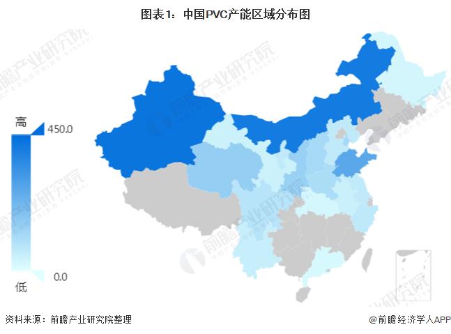 图表1:中国PVC产能区域分布图