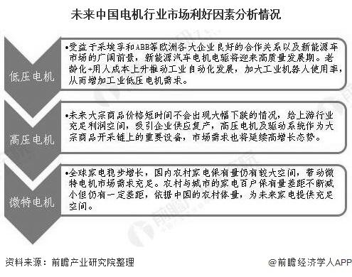 未来中国电机行业市场利好因素分析情况