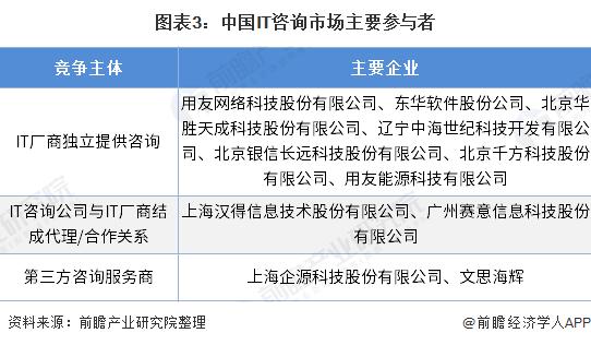 图表3:中国IT咨询市场主要参与者
