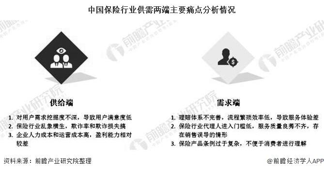 中国保险行业供需两端主要痛点分析情况