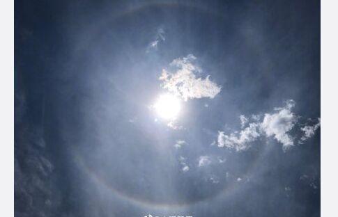 太美了!北京同时出现日晕和七彩云 网友:双倍幸运!