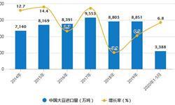 2020年1-5月中国<em>大豆</em>行业进口现状分析 累计进口量突破3000万吨