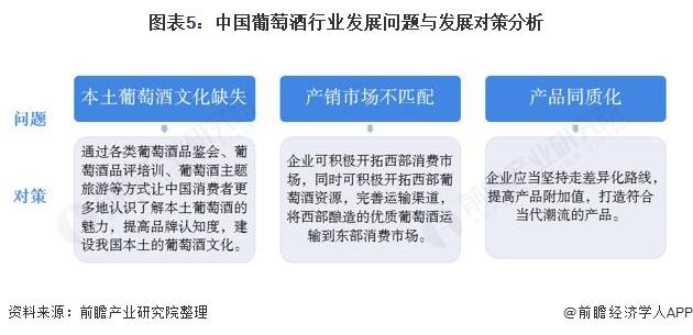 图表5:中国葡萄酒行业发展问题○与发展对策分析