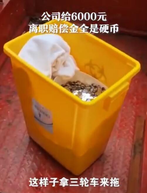 离职获赔6000元硬币女子发声:装在医疗废物桶里,对方不愿配合清点