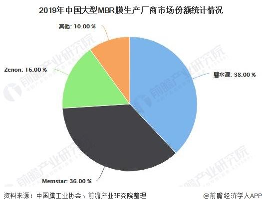 2019年中国大型MBR膜生产厂商市场份额统计情况