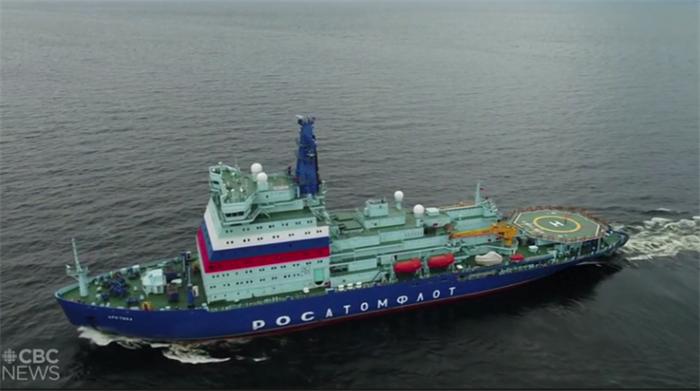 """全球最大核动力破冰船前往北极""""破冰"""",核反应堆发电量超美国福特级航母"""