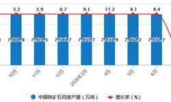 2020年1-7月中国<em>铁矿石</em>行业市场分析:累计产量超4.86亿吨