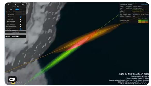 正密切监测!前苏联废弃卫星或与中国火箭相撞,将产生数千块太空碎片