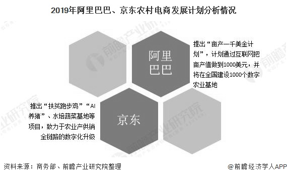 2019年阿里巴巴、京东农村电商发展计划分析情况
