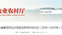 《河北省智慧农业示范建设专项行动计划(2020—2025年)》解读