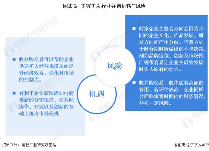 图表5:美容美发行业并购机遇与风险