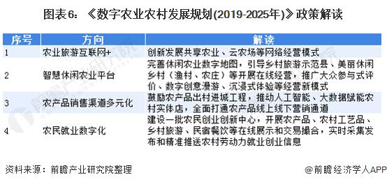 图表6:《数字农业农村发展规划(2019-2025年)》政策解读