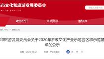 2020年重庆市级文化产业示范园区和示范基地拟命名名单