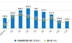 2020年1-11月中国<em>啤酒</em>行业市场分析:累计产量突破3200万千升