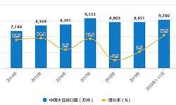 2020年1-11月中国<em>大豆</em>行业进口贸易分析 累计进口量突破9000万吨