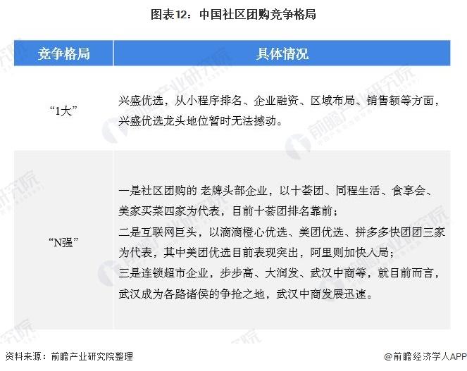 图表12:中国社区团购竞争格局
