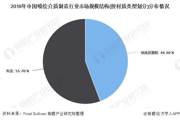 2019年中国喷绘介质制造行业市场规模结构(按材质类型划分)分布情况