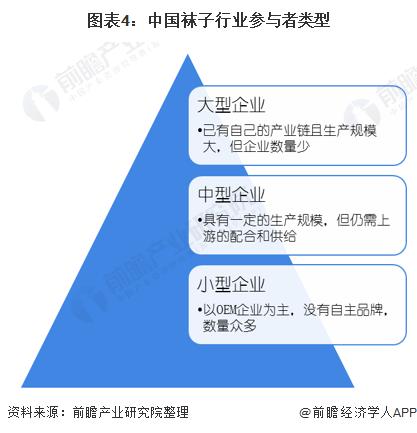 图表4:中国袜子行业参与者类型