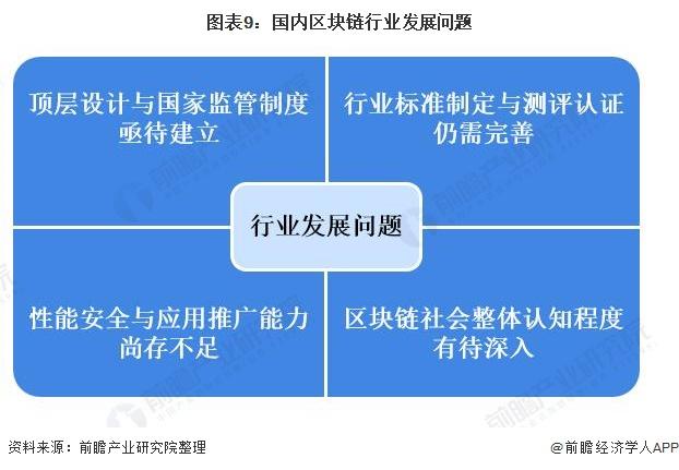 图表9:国内区块链行业发展问题