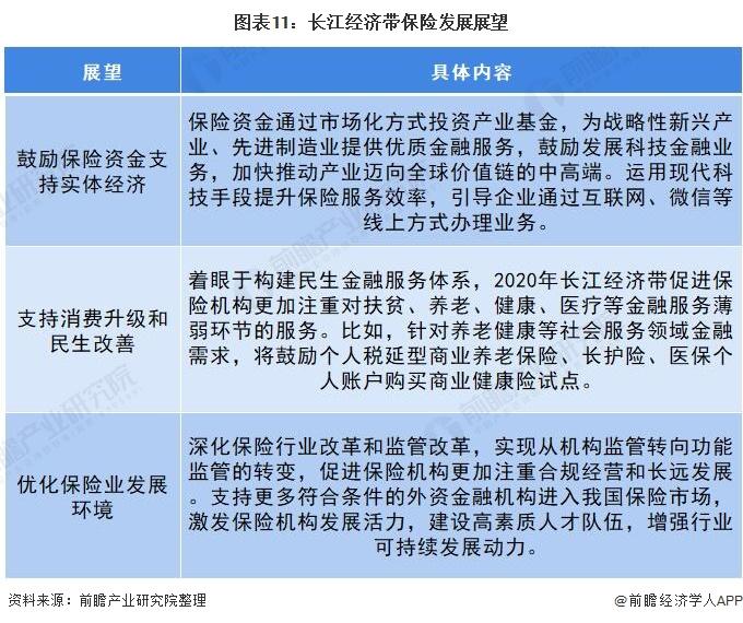 图表11:长江经济带保险发展展望