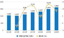 2020年全年中国<em>大豆</em>行业产量及进口贸易情况 累计进口量首次突破1亿吨