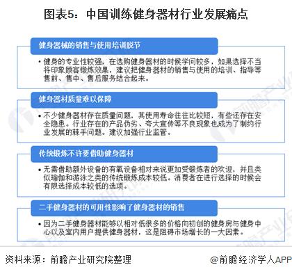 图表5:中国训练健身器材行业发展痛点
