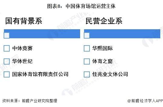 图表8:中国体育场馆运营主体