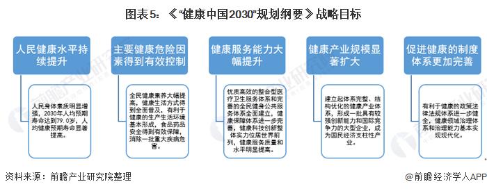 """图表5:《""""健康中国2030""""规划纲要》战略目标"""