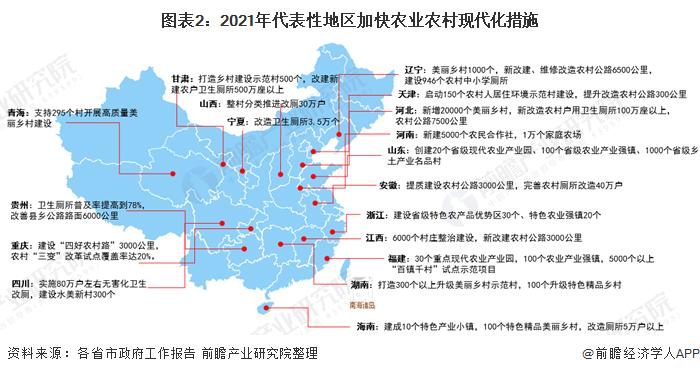 图表2:2021年代表性地区加快农业农村现代化措施