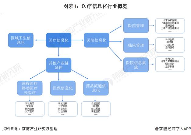 圖表1:醫療信息化行業概覽
