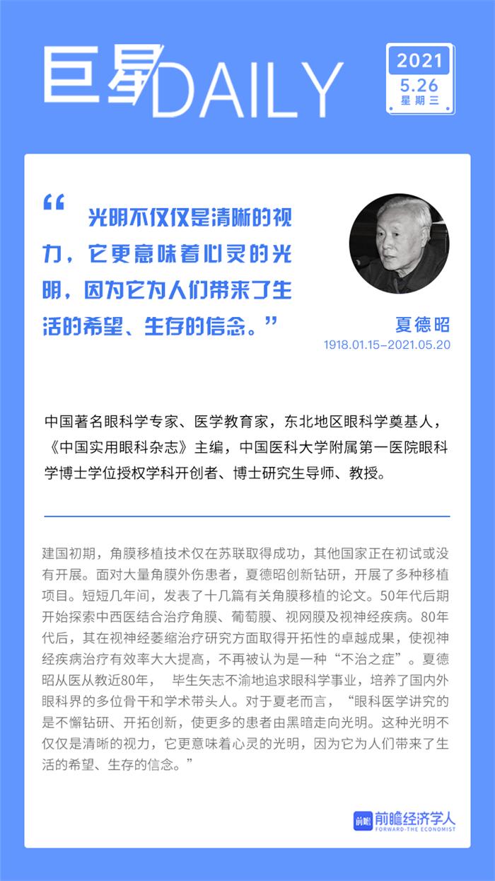 巨星日历   让所有习惯了黑暗的眼睛习惯上光明!致敬中国眼科医学界泰斗夏德昭教授