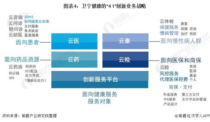 """图表4:卫宁健康的""""4+1""""创新业务战略"""