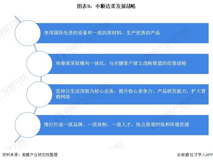 图表9:中顺洁柔发展战略