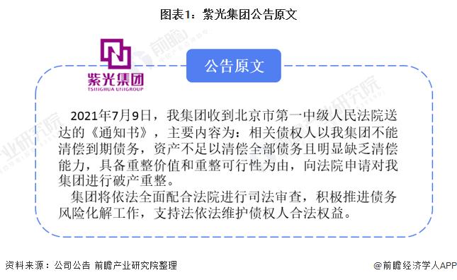 图表1:紫光集团公告原文