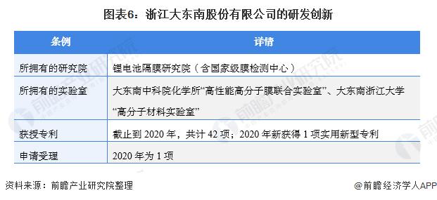 图表6:浙江大东南股份有限公司的研发创新