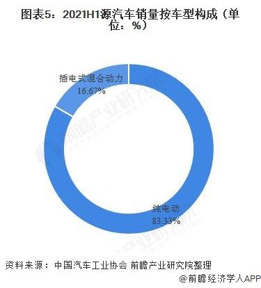 图表5:2021H1源汽车销量按车型构成(单位:%)