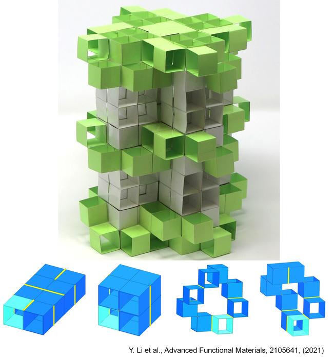 研究人员设计出3D剪纸积木来制造动态超材料 可做出30万种不同设计