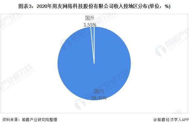 图表3:2020年用友网络科技股份有限公司收入按地区分布(单位:%)