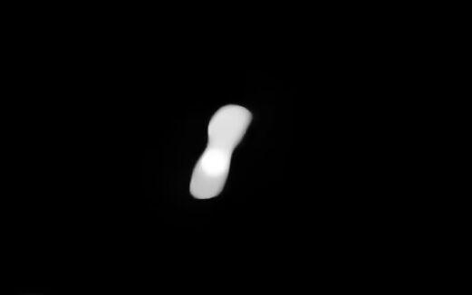 一颗奇特小行星高清照曝光:形状似狗骨头,位于火星和木星之间