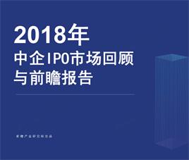 2018年中国企业IPO市场回顾与前瞻报告