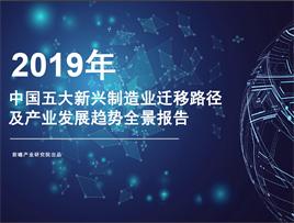 中国五大新兴制造业迁移路径及产业发展趋势全景报告