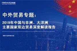 2019年中國與非洲、大洋洲主要國家雙邊貿易深度解讀報告